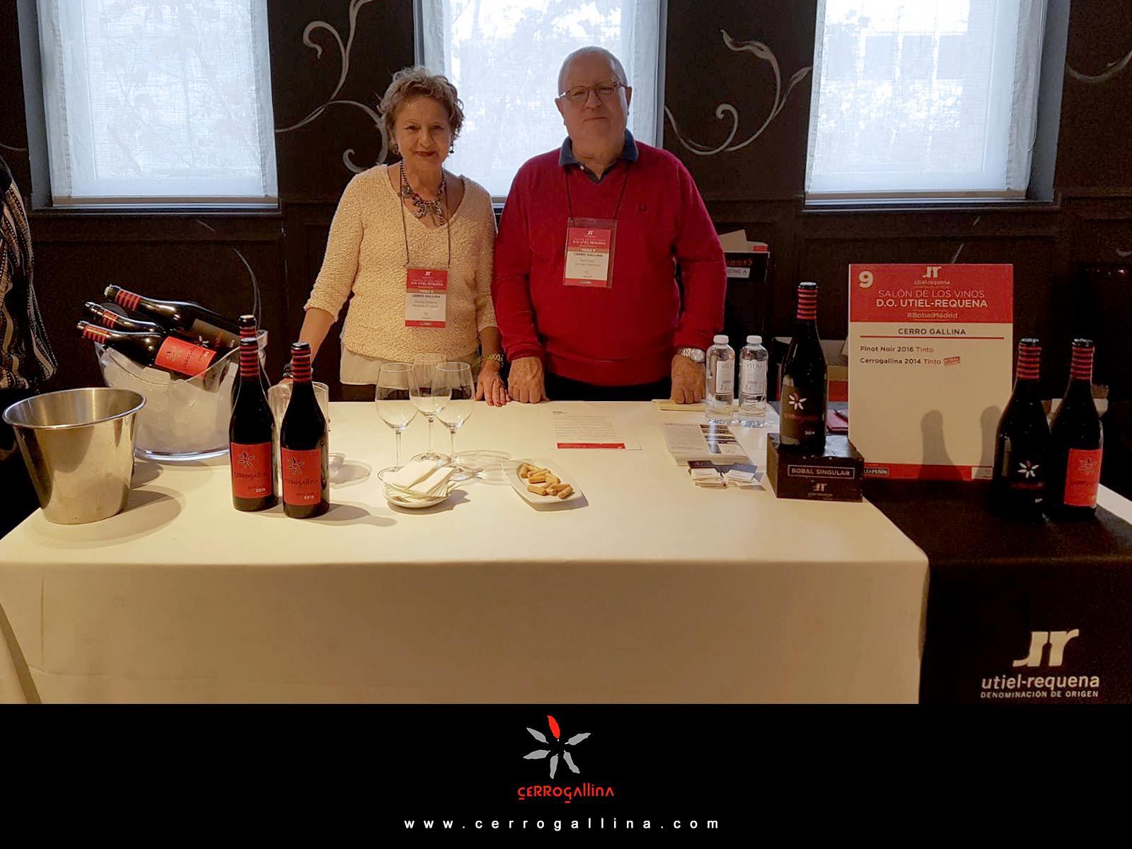 Cerro Gallina en el salón de los vinos D.O. UTIEL-REQUENA 2017